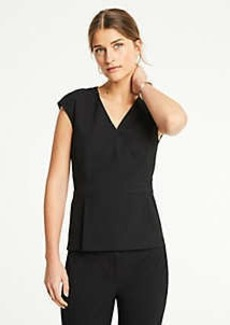Ann Taylor Petite Seasonless Stretch Wrap Top