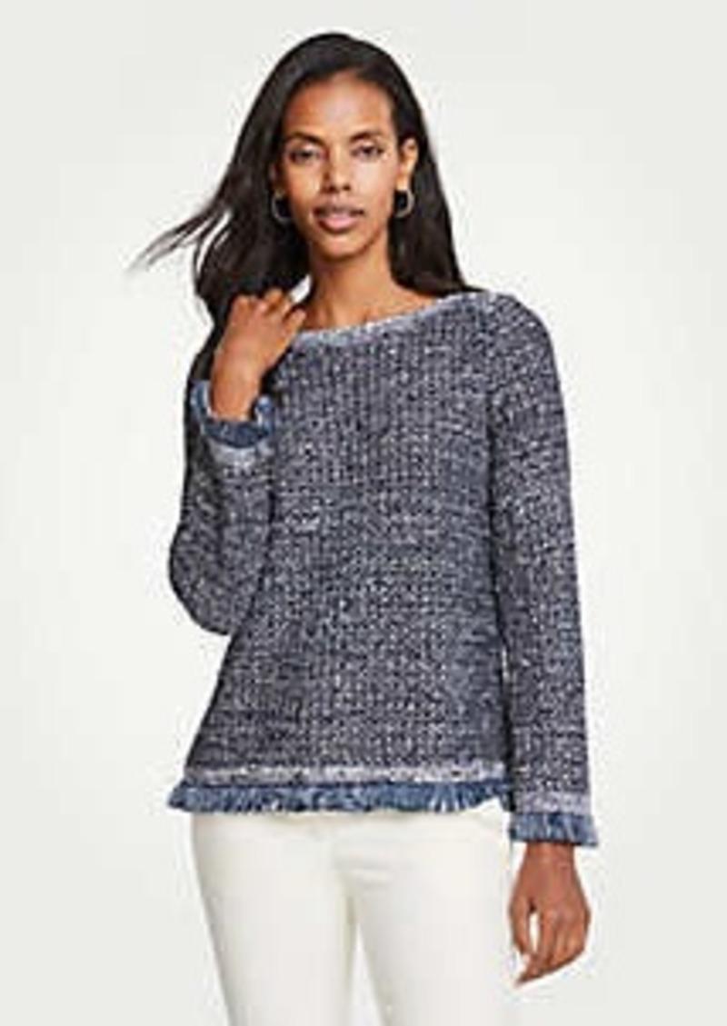 Ann Taylor Petite Sequin Fringe Sweater