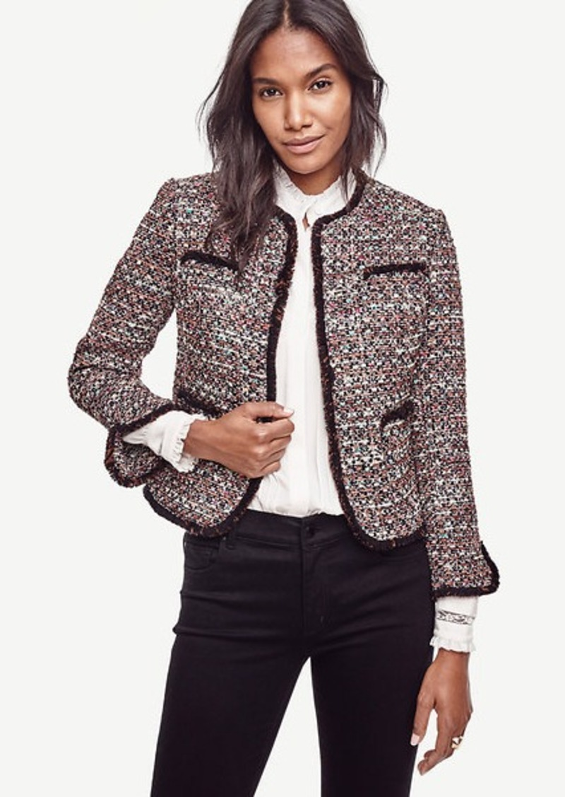 Ann Taylor Petite Sequin Tweed Jacket | Outerwear - Shop It To Me