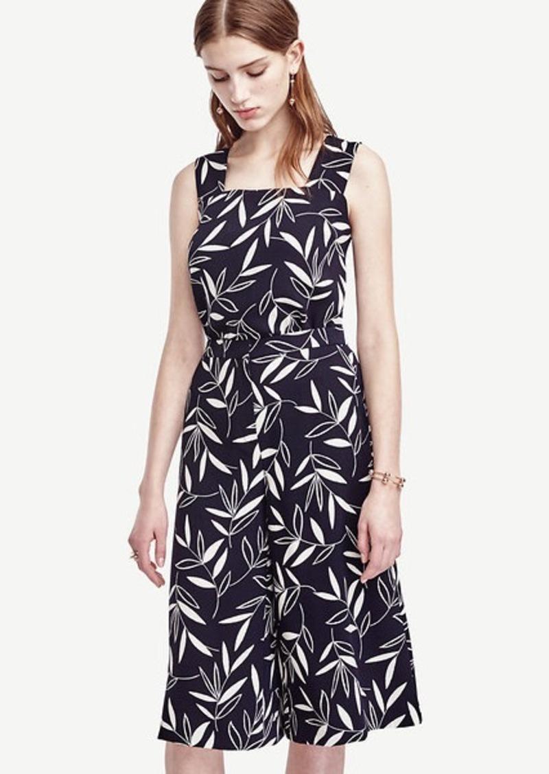 Ann Taylor Petite Shadow Leaf Culottes