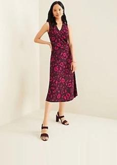 Ann Taylor Petite Shadowed Violet Midi Dress