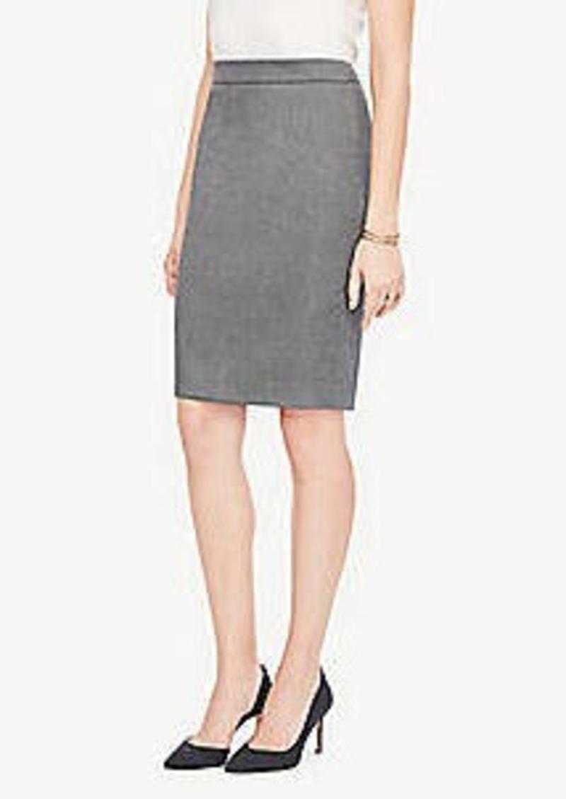 Ann Taylor Petite Sharkskin Pencil Skirt