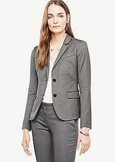 Ann Taylor Petite Sharkskin Two Button Jacket