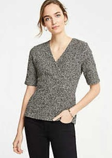 Ann Taylor Petite Shimmer Crossover Top