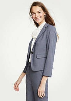 Ann Taylor Petite Shimmer Houndstooth Blazer