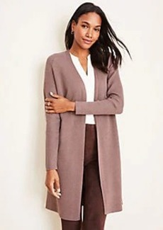 Ann Taylor Petite Shimmer Open Cardigan