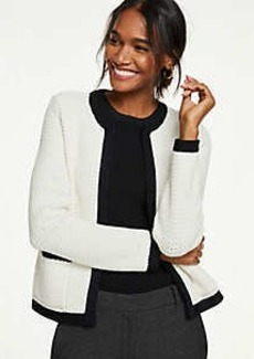 Ann Taylor Petite Shimmer Pocket Sweater Jacket