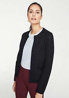 Ann Taylor Petite Shimmer Pocket Sweater Jacket