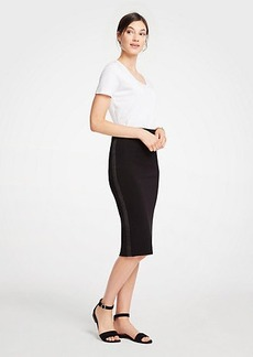 Ann Taylor Petite Shimmer Stitched Pencil Skirt