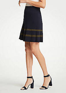 Ann Taylor Petite Shimmer Stripe Sweater Skirt