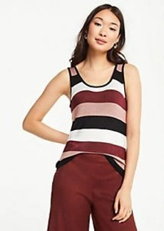 Ann Taylor Petite Shimmer Striped Sweater Tank