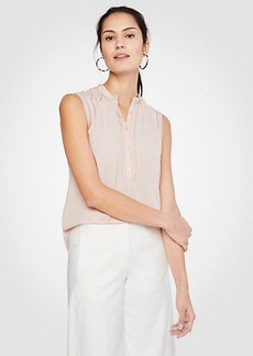 Ann Taylor Petite Shirred Popover Shell