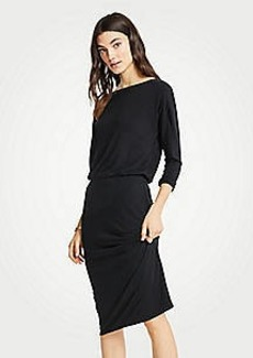 Ann Taylor Petite Shirred Sheath Dress