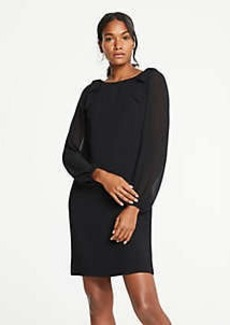 Ann Taylor Petite Shoulder Bow Shift Dress