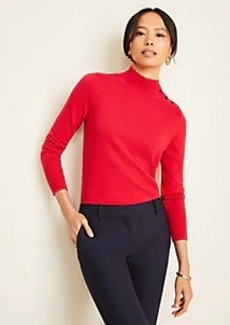 Ann Taylor Petite Shoulder Button Turtleneck Sweater