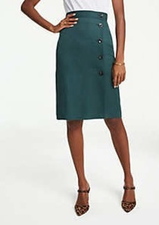 Ann Taylor Petite Side Button A-Line Skirt