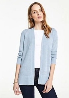 Ann Taylor Petite Side Slit Open Cardigan