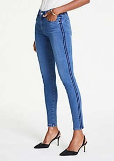 Ann Taylor Petite Side Trim Performance Stretch Skinny Jeans In Mid Stonewash