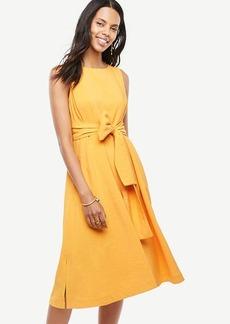 Petite Sleeveless Belted Dress