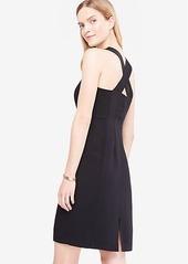 Ann Taylor Petite Sleeveless Cross Back Sheath Dress