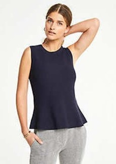 Ann Taylor Petite Sleeveless Peplum Sweater