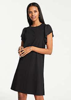 Ann Taylor Petite Smocked Knit T-Shirt Dress