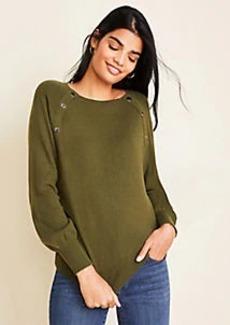 Ann Taylor Petite Snap Trim Sweater