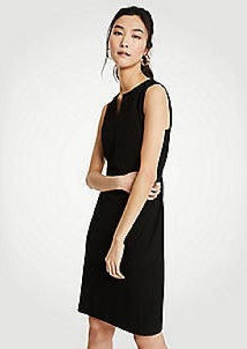 Ann Taylor Petite Split Neck Seasonless Sheath Dress