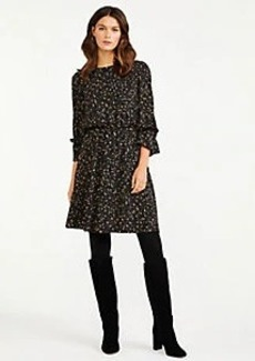 Ann Taylor Petite Spotted Flare Dress