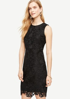 Petite Spring Lace Sheath Dress