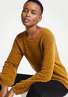 Ann Taylor Petite Stitched Balloon Sleeve Sweater
