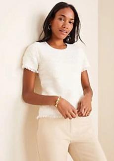 Ann Taylor Petite Stitched Fringe Sweater