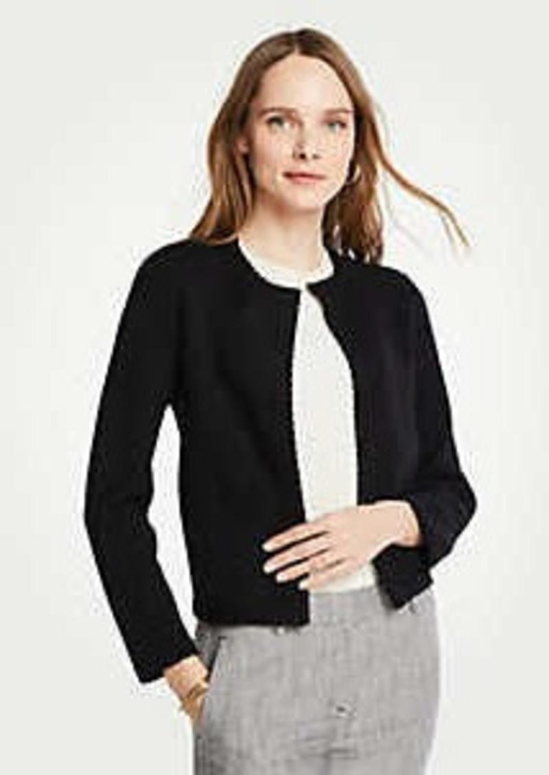Ann Taylor Petite Stitched Open Jacket
