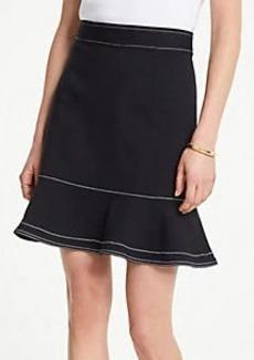 Ann Taylor Petite Stitched Ponte Flounce Skirt