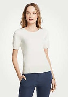 Ann Taylor Petite Stitched Sweater Tee