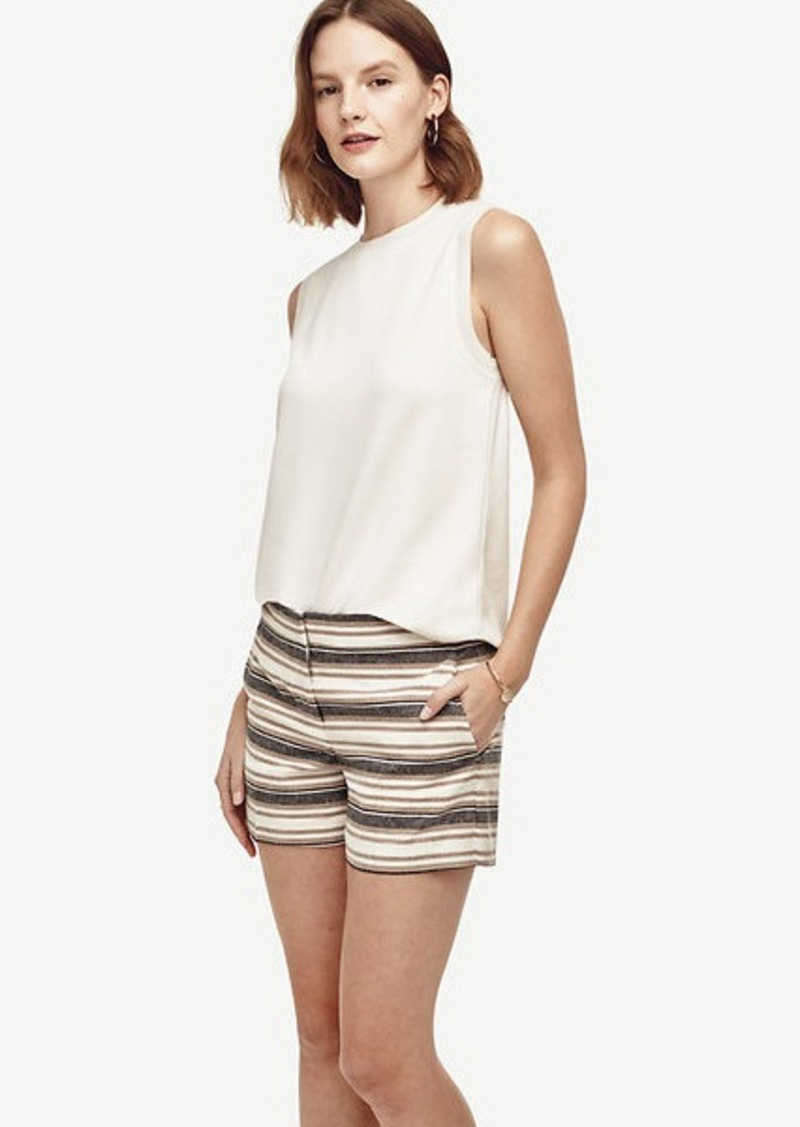 Ann Taylor Petite Stripe City Shorts
