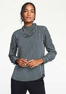 Ann Taylor Petite Striped Handkerchief Blouse