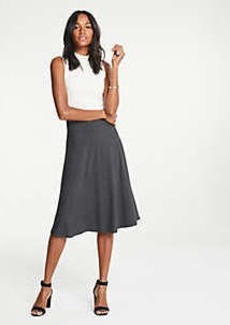 Ann Taylor Petite Stripe Seamed Knit Full Skirt