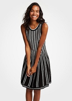Ann Taylor Petite Striped Flare Sweater Dress