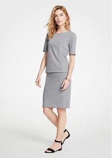 Ann Taylor Petite Striped Knit Pencil Skirt