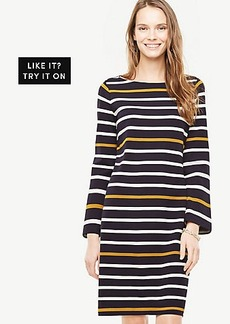 Petite Striped Knit Shift Dress