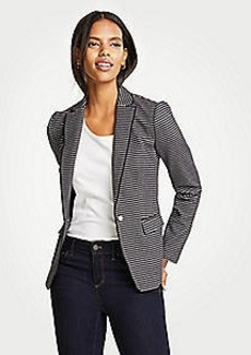 Ann Taylor Petite Striped Pearlized Blazer