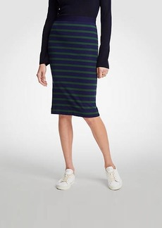 Ann Taylor Petite Striped Pencil Skirt