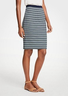 Ann Taylor Petite Striped Knit Pencil Skirt