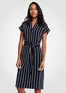 Ann Taylor Petite Striped Shirtdress
