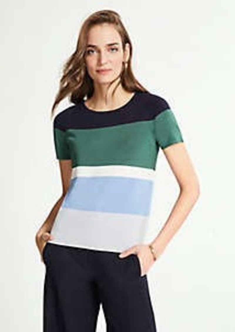 Ann Taylor Petite Striped Sweater Tee