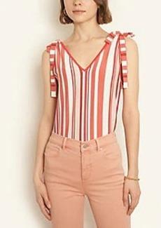 Ann Taylor Petite Striped Tie Shoulder Sweater Tank