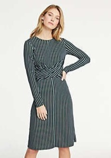 Ann Taylor Petite Striped Matte Jersey Wrap Dress