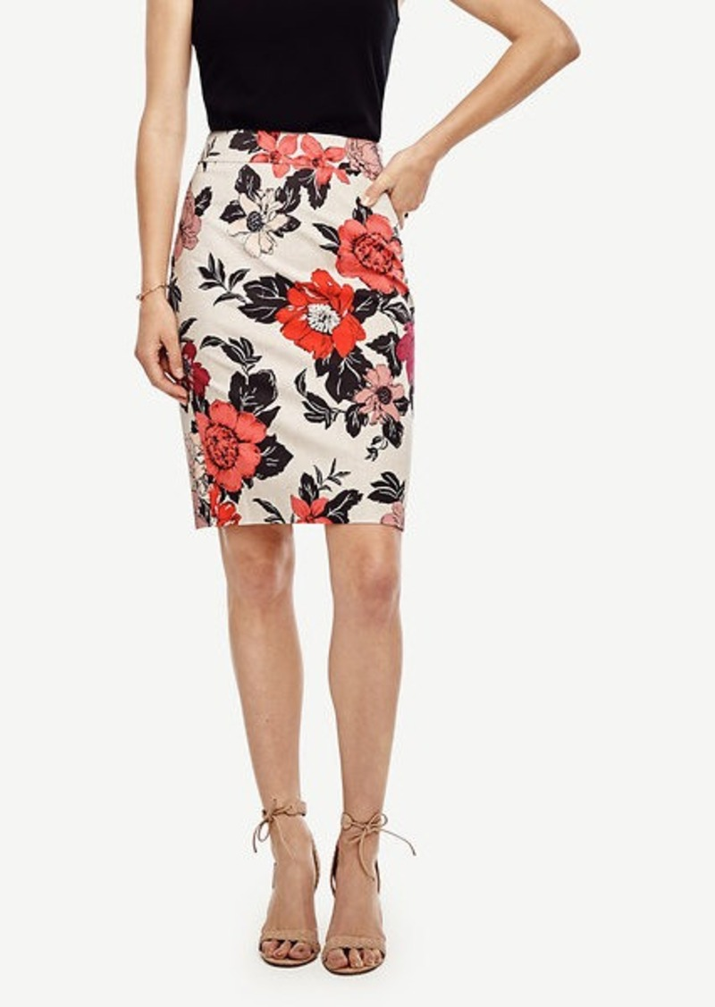 Ann Taylor Petite Sundrenched Floral Pencil Skirt