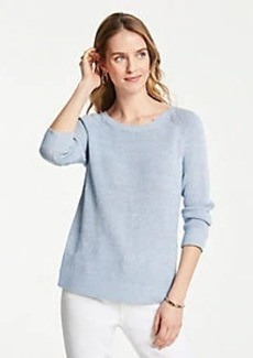 Ann Taylor Petite Textured Crew Neck Sweater